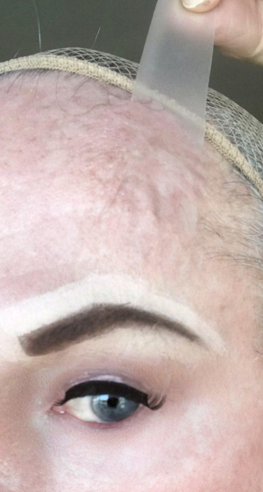 creating brow arch during crossdresser makeup